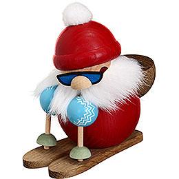 Räuchermännchen Nikolaus läuft Ski  -  Kugelräucherfigur  -  10cm