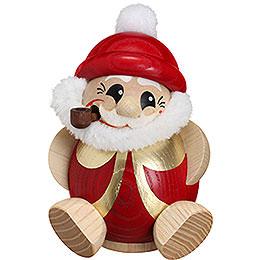 Räuchermännchen Nikolaus rot - gold  -  Kugelräucherfigur  -  11cm