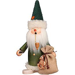 Räuchermännchen Schlafmütze Weihnachtsmann grün  -  26,5cm