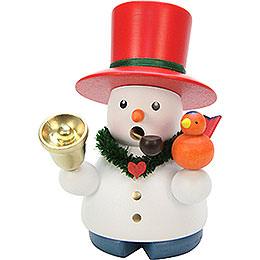 Räuchermännchen Schneemann mit Glocke  -  10,5cm