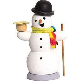 Räuchermännchen Schneemann mit Kerze  -  13cm