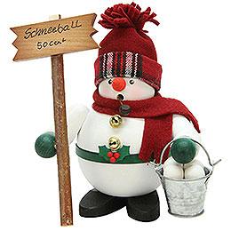 Räuchermännchen Schneemann mit Schneebällen  -  17cm