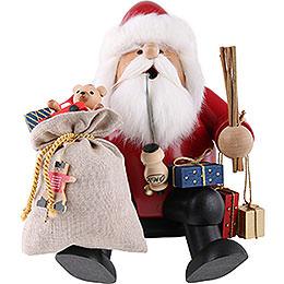 Räuchermännchen Weihnachtsmann  -  Kantenhocker  -  26cm