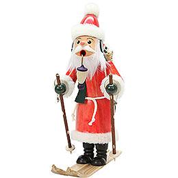 Räuchermännchen Weihnachtsmann auf Ski  -  29,0cm