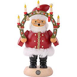 Räuchermännchen Weihnachtsmann mit Kerzenbogen 18cm