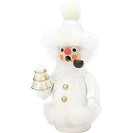 Räuchermännchen Weihnachtsmann weiß  -  12cm