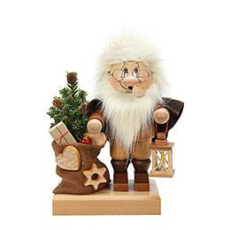 Räuchermännchen Wichtel Weihnachtsmann mit Sack  -  26,5cm