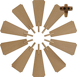Replacement Wheel with Wings for Christmas Pyramid  -  Diameter = 30cm / 12 inch