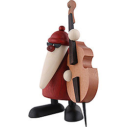 Santa Claus Playing the Double Bass  -  12cm / 4.7 inch