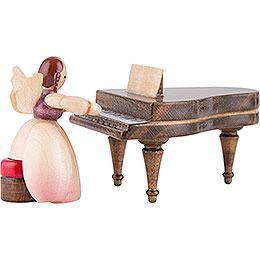 Schaarschmidt Angel with Piano  -  4cm / 1.6 inch