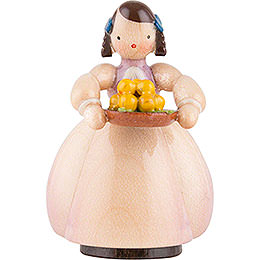 Schaarschmidt Girl with Apple Bowl  -  4cm / 1.6 inch