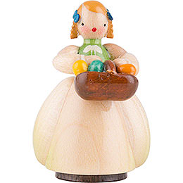 Schaarschmidt Girl with Egg Basket  -  4cm / 1.6 inch