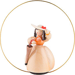 Schaarschmidt Hat Lady with Umbrella in Ring  -  6cm / 2.4 inch