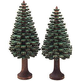 Schichtenbäume  -  Nadelbäume grün, 2 - teilig  -  14cm