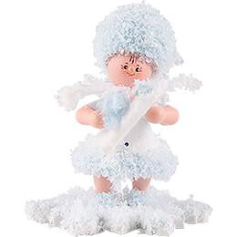 Schneeflöckchen mit Baby Junge  -  5cm