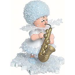 Schneeflöckchen mit Saxophon  -  5cm