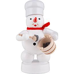 Schneemann Bäcker mit Mohntopf und Löffel  -  8cm