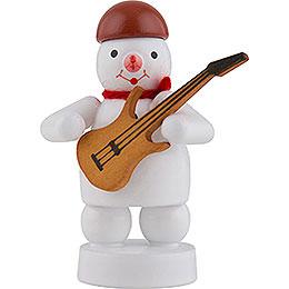 Schneemann Musikant mit E - Gitarre  -  8cm