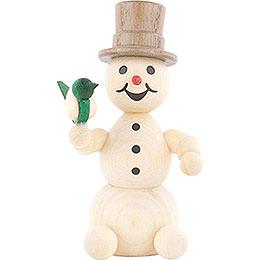 Schneemann mit Vogel  -  8cm
