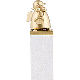 Schutzengel Gold mit Trompete  -  8cm
