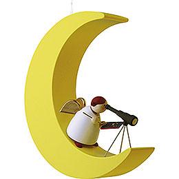 Schutzengel mit Fernrohr im Mond  -  3,5cm