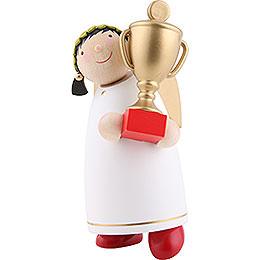 Schutzengel mit Pokal (Gewinner)  -  8cm