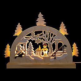 Schwibbogen Adventsmarkt  -  23x15cm