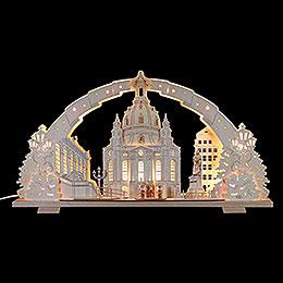 Schwibbogen Dresdener Frauenkirche  -  72x41x7cm