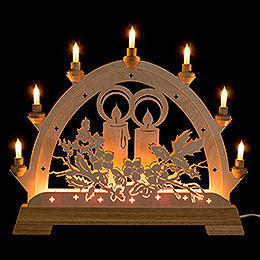 Schwibbogen Kerze  -  48cm