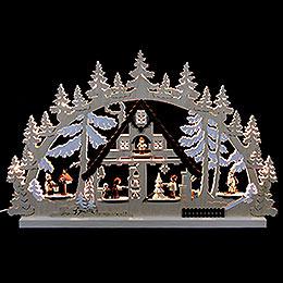 Schwibbogen Weihnachtshaus  -  74x47x5,5cm