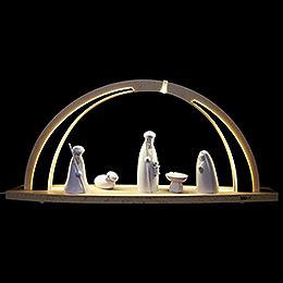 Schwibbogen modern wood Christi Geburt  -  57x26x10cm