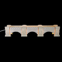 Schwibbogenerhöhung Augustusbrücke, beleuchtet  -  72x13x11,5cm