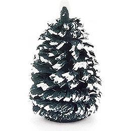 Seiffen Spruce  -  Green - White  -  4cm / 1.6 inch