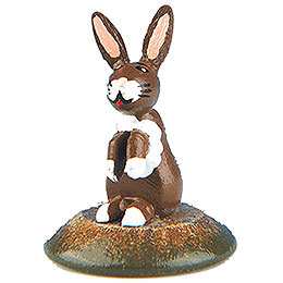 Set of Six -  Little Fear Rabbit  -  3cm / 1 inch