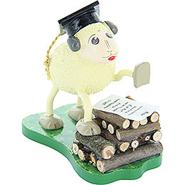"Sheep ""Schlaubi"", Holding a Speech  -  6,5cm / 2.5 inch"