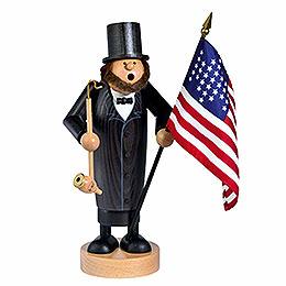 Smoker  -  Abraham Lincoln  -  26cm / 10 inch