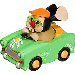 Smoker  -  Bunny in Car  -  Ball Figure  -  10cm / 4 inch