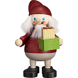 Smoker  -  Christmas Heinzel with Gift  -  15cm / 5.9 inch