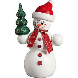 Smoker  -  Christmas Snowman  -  15cm / 5.9 inch
