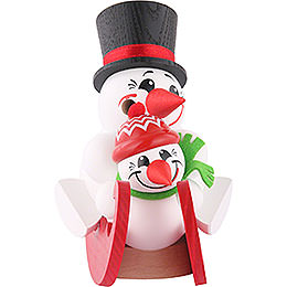 Smoker  -  Cool - Men on Sleigh  -  Ball Figure  -  12cm / 5 inch