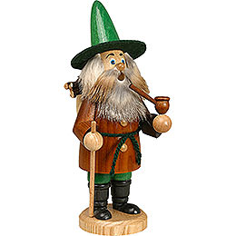 Smoker  -  Gnome Wood Gatherer, Brown  -  22cm / 9 inch