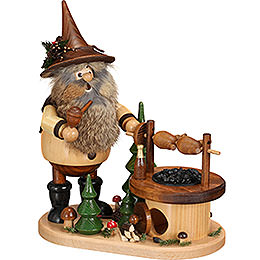 Smoker  -  Gnome at the Turning Barbecue  -  26cm / 10.2 inch