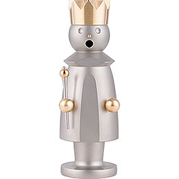 Smoker  -  King  -  Stainless Steel, Glass Bead blasted  -  15cm / 5.9 inch