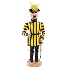 Smoker  -  Miner Saxonian Kings Court Trumpet Player  -  21cm / 8 inch