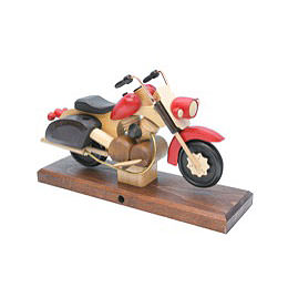 Smoker  -  Motorcycle Chopper Red 27x18x8cm / 11x7x3 inch