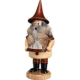 Smoker  -  Mountain Gnome with Quartz  -  18cm / 9.1 inch