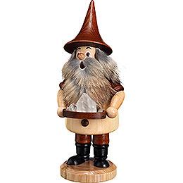 Smoker  -  Mountain Gnome with Quartz  -  18cm / 9.1 inch