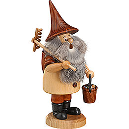 Smoker  -  Mountain Gnome with Rake  -  18cm / 7 inch