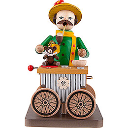 Smoker  -  Organ Grinder with Music Box  -  17cm / 6.7 inch