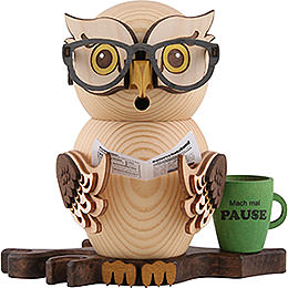 Smoker  -  Owl Four - Eyed Owl  -  15cm / 5.9 inch